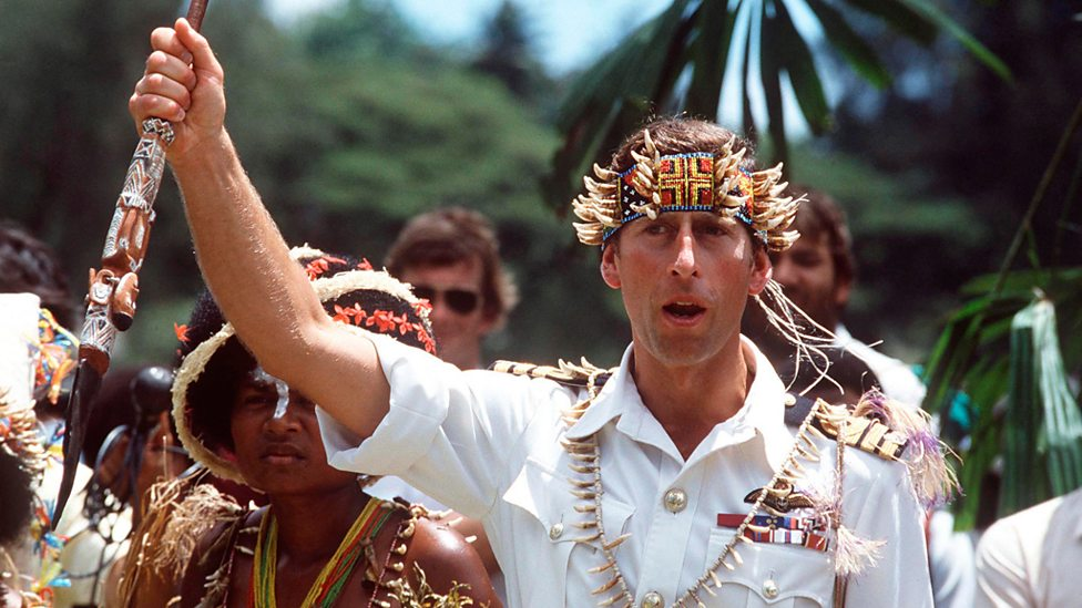 Prince Charles Visiting Papua New Guinea in 1984