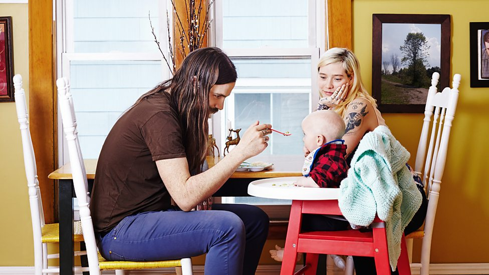 Modern hipster family. Getty Images