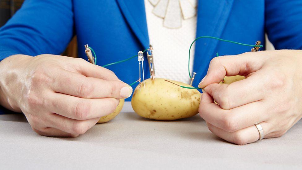 boiled potato battery