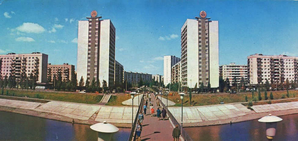Rusanivka new residential district, Kiev, Ukraine. Date unknown