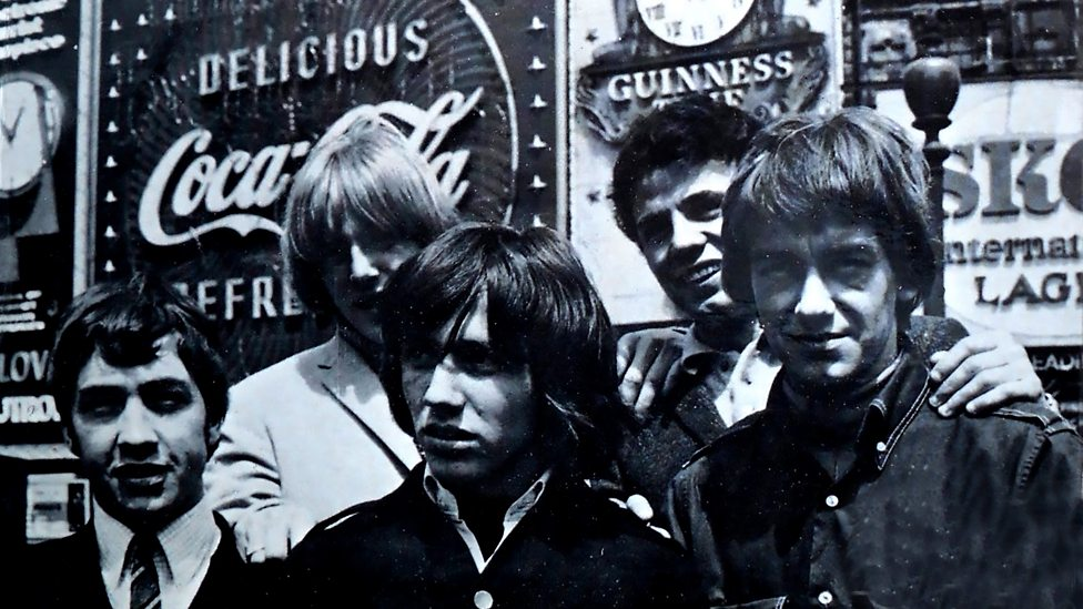 The Easybeats in London, late 1960s. George Young is pictured left
