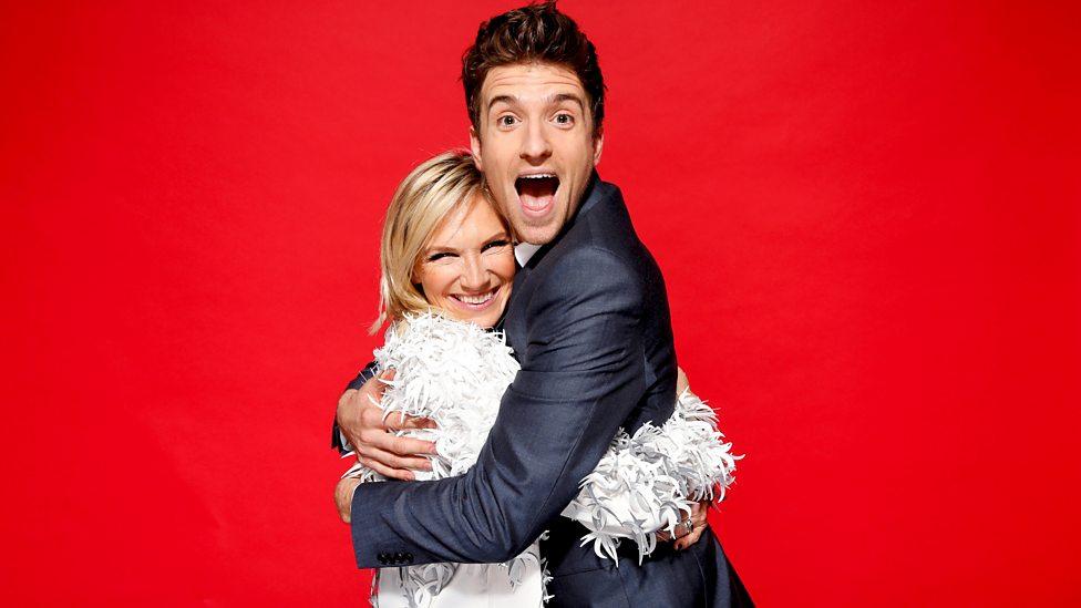 Radio 2's Jo Whiley and Radio 1's Greg James at BBC Music Awards 2015