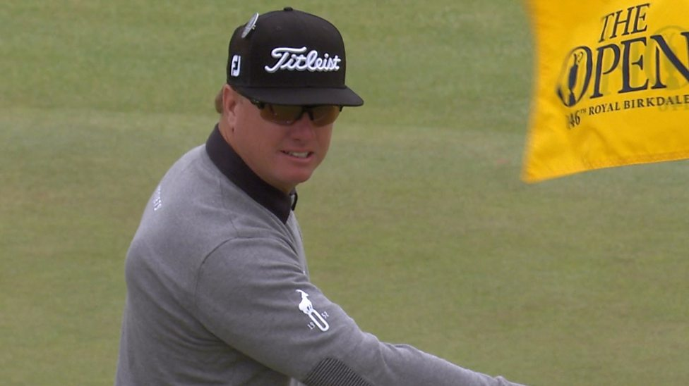 Hoffman holes out from rough to claim eagle
