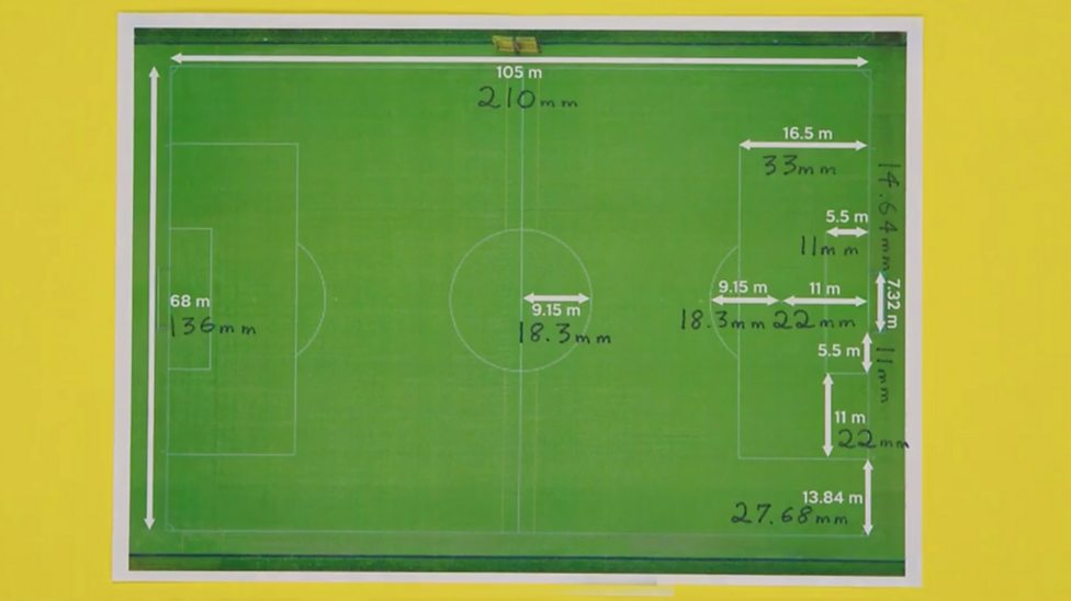 Bbc Bitesize How To Make A Scale Drawing Of A Football Pitch