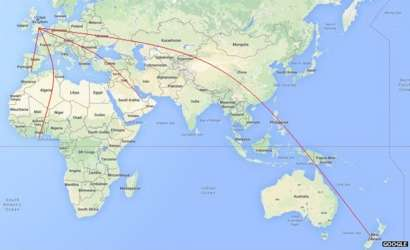 Map of where fans are coming from