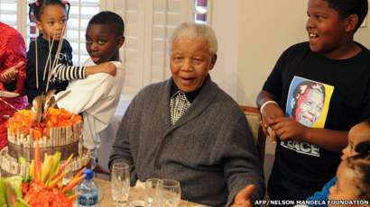 Mr Mandela celebrates 94th birthday