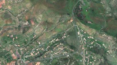 satellite image of Qunu and area