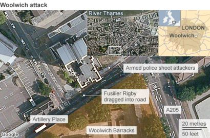 Lee Rigby Murder Map And Timeline Bbc News