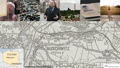 map of auschwitz in 1942