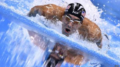 Michael Phelps en acción