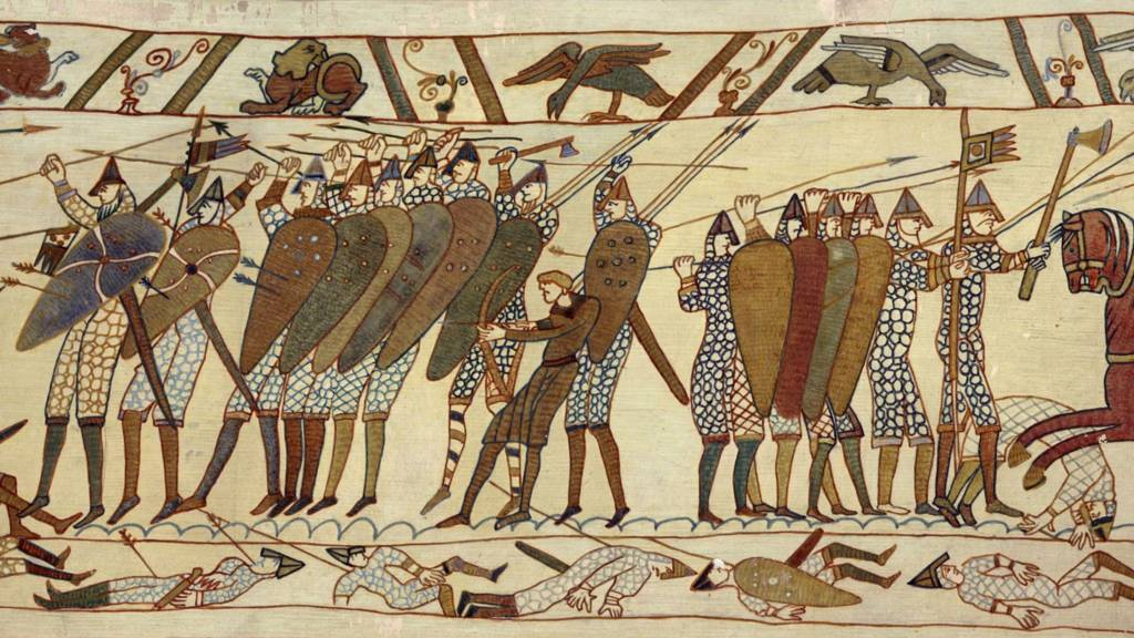 bayeux tapestry experience Harold godwinson ( c 1022 – 14 october 1066), often called harold ii, was the  last  the bayeux tapestry, and other norman sources, then record that harold  swore an oath on sacred relics to william to support his claim to the english  throne.