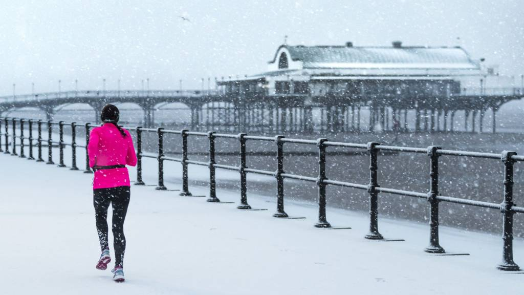 Snowy weather in Cleethorpes