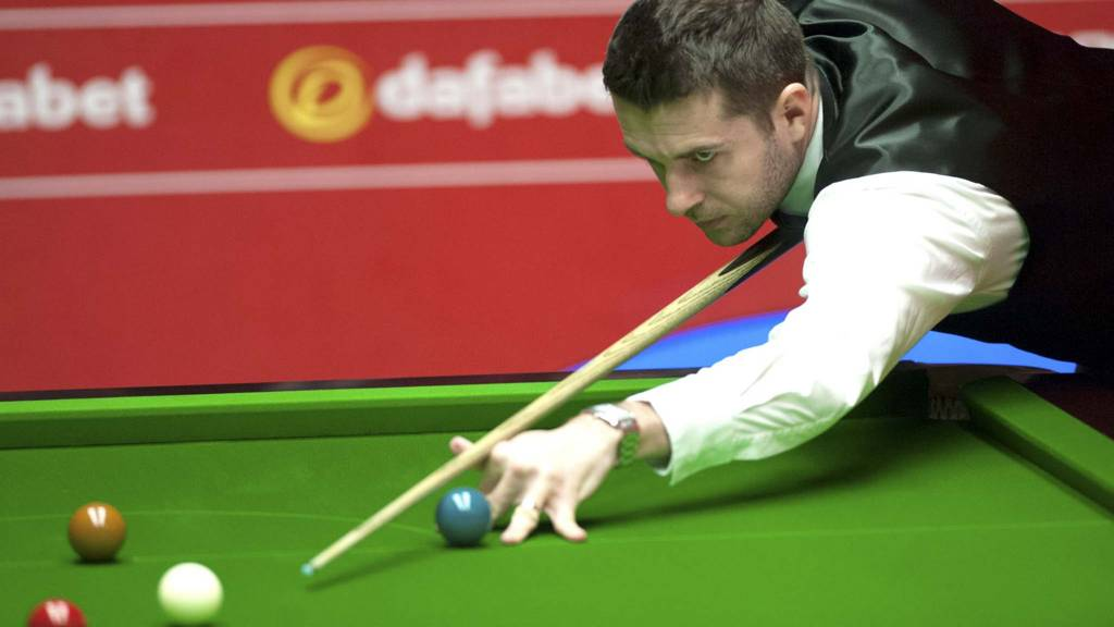 Mark Selby during his match against Michael White during the 2014 Championship
