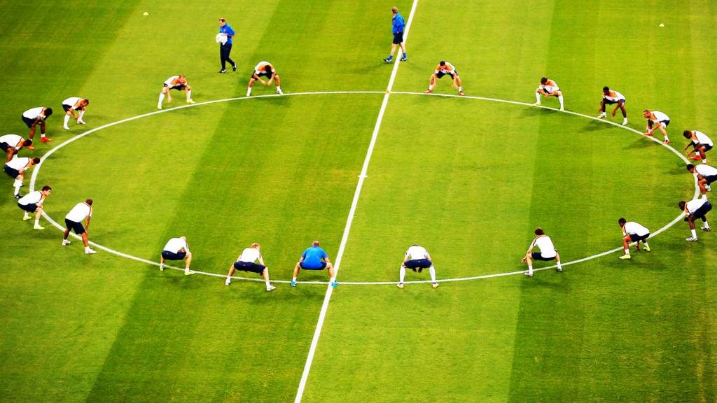 Holland training ahead of game against Spain