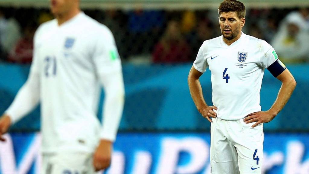 Steven Gerrard after England's loss to Uruguay