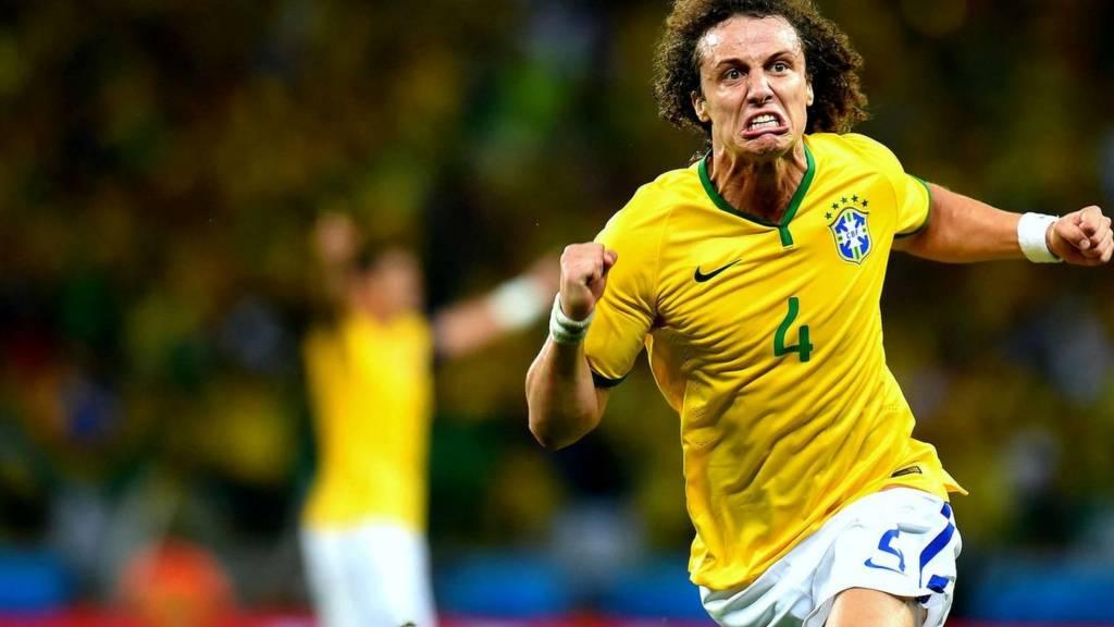 David Luiz scores Brazil's second