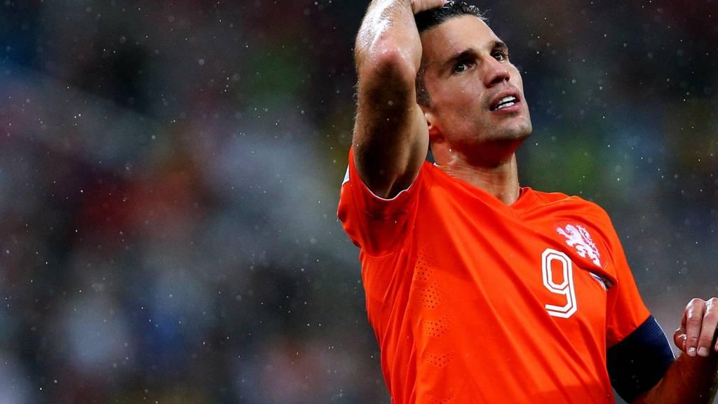 Robin van Persie in action for the Netherlands