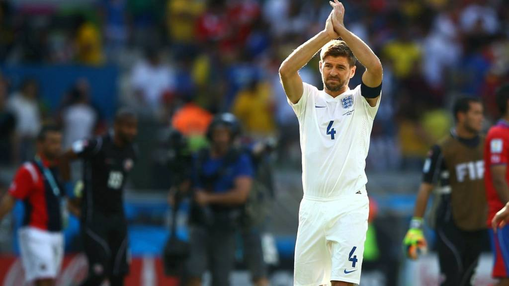 Steven Gerrard retires from international football