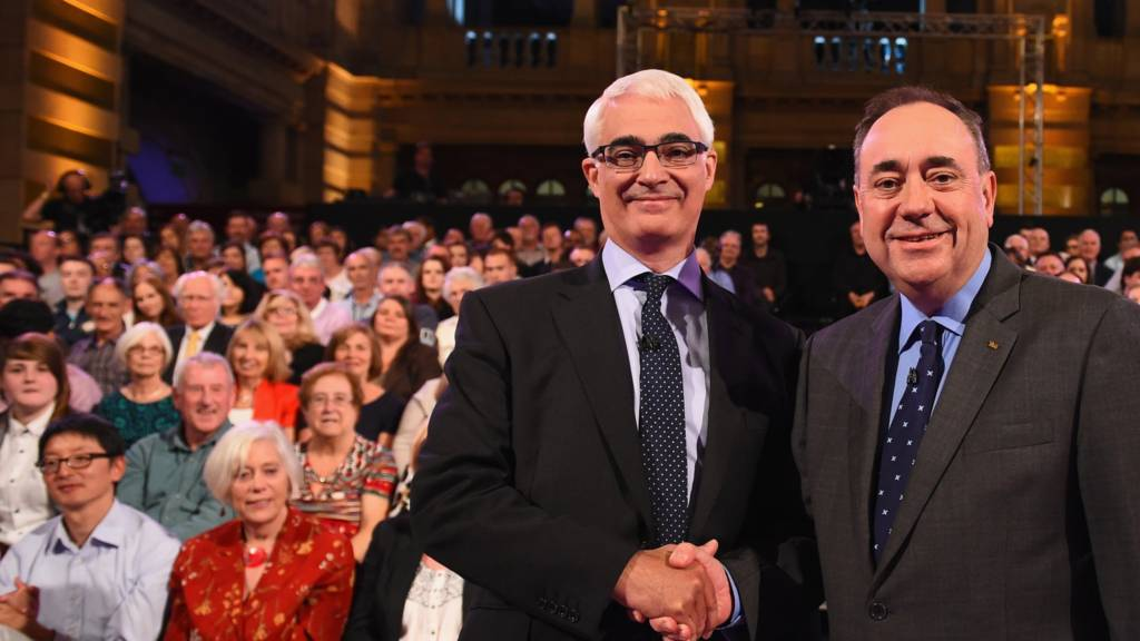 Alistair Darling (left) and Alex Salmond