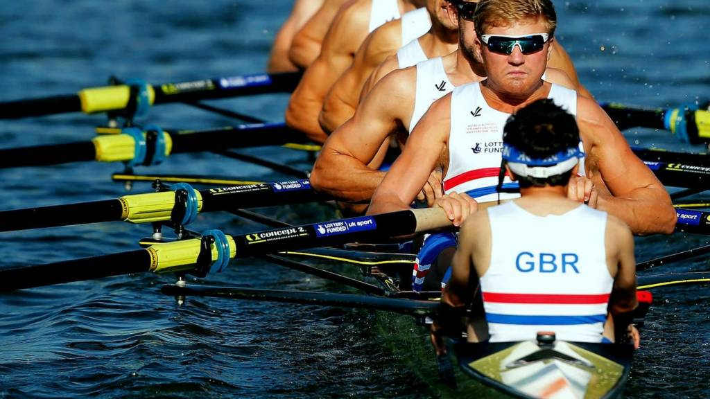 Britain's men's eight crew at the World Rowing Championships