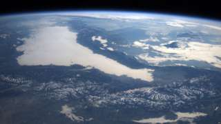 Earth seen from the IS