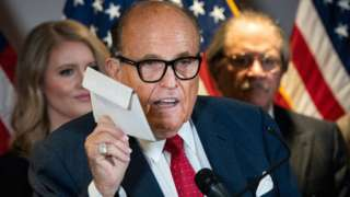 Rudy Giuliani during press conference