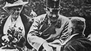 Archduke Franz Ferdinand and Duchess Sophie in a carriage