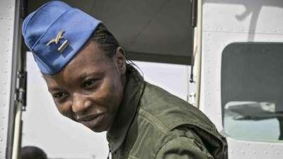 nigerien pilot in plane cockpit