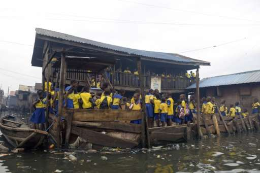 Makoko school children