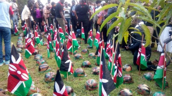 Vigil in Kenya for soldiers