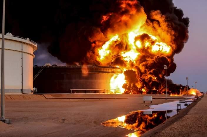 ras lanuf oil fire