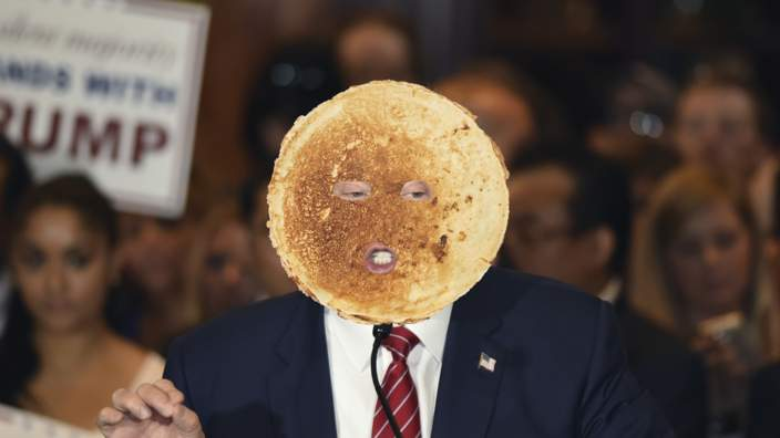 Trump photoshopped in a pancake