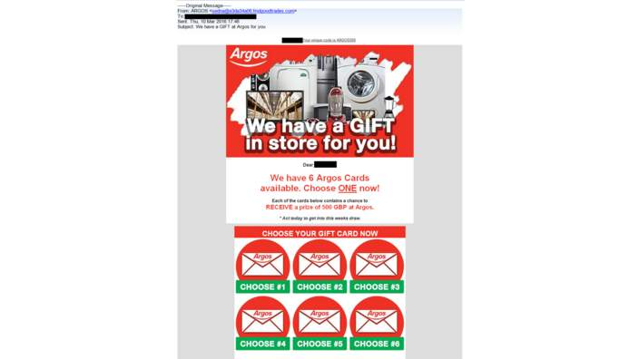 Argos email