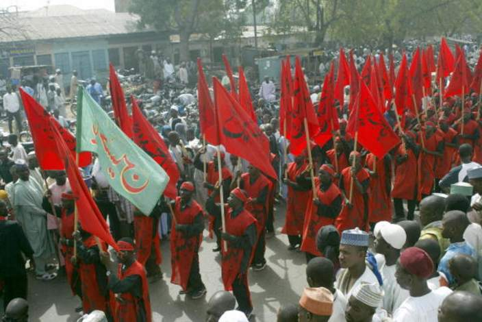 Muslim Shiite demonstrators march through the streets of the northern Nigerian city of Kano on January 7, 2009 in protest against the Israeli bombardment of Gaza.