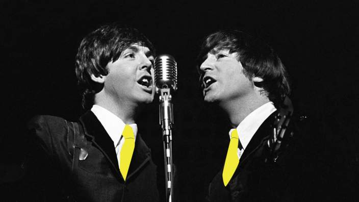 Beatles yellow ties