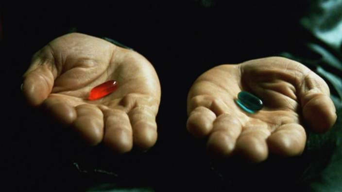 Red and blue pill - the Matrix