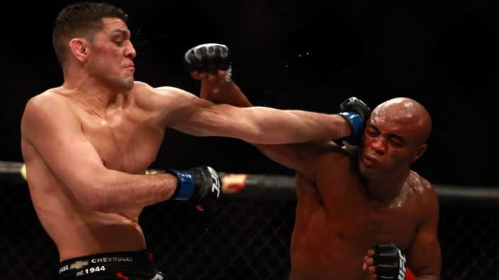 Anderson Silva v Nick Diaz at UFC 183