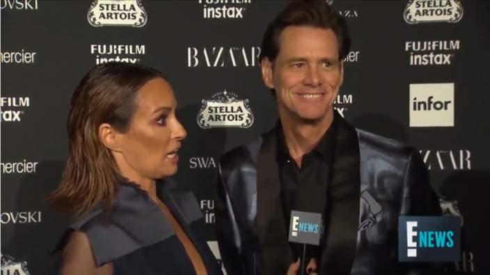Jim Carrey interviewed at NYFW