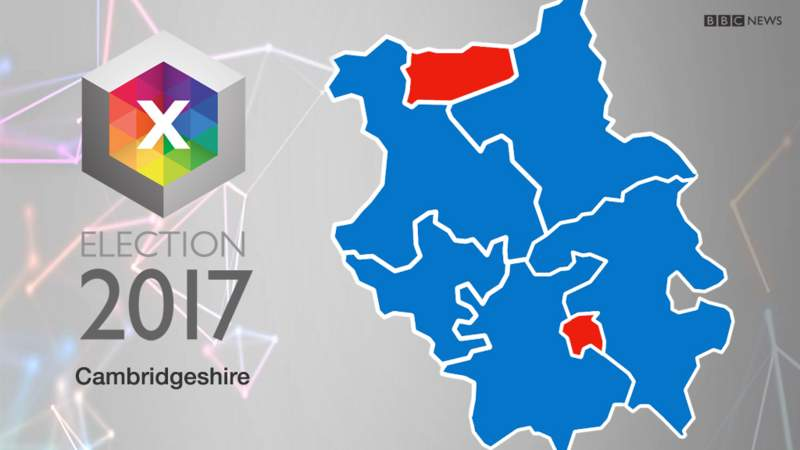 Cambridgeshire South Parliamentary Constituency Election - Bbc election map us