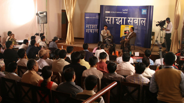 An audience with sajha Sawal