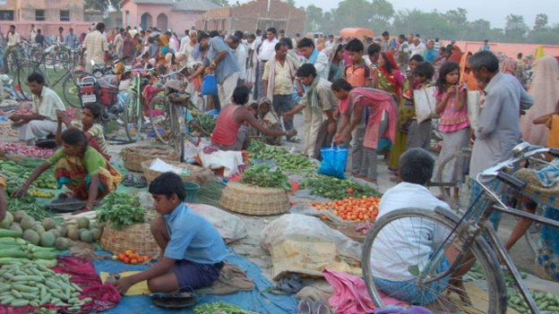 A weekly rural market