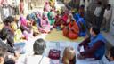 A BBC Media Action listening group in Madhya Pradesh, India.
