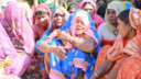 A widow talks at a BBC Media Action listener's group in Madhya Pradesh, India.