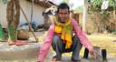Manki Oraoun at his house in Latehar, India.