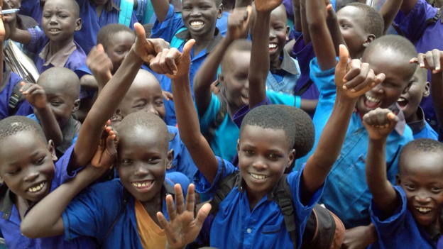 Children from Gumbo Primary School in Juba, South Sudan