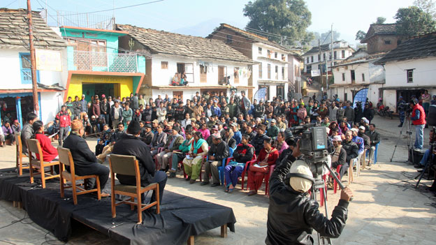 BBC Media Action debate show Sajha Sawal in Nepal.
