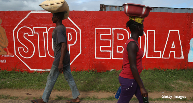 Ebola health message in Liberia