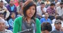 Young woman takes part in Sajha Sawal