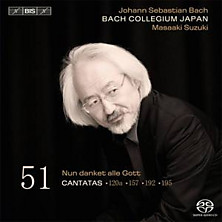 Review of Cantatas vol. 51 (Bach Collegium Japan; conductor: Masaaki Suzuki)