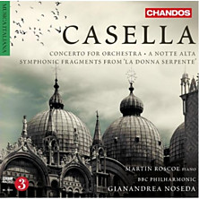 Review of Concerto for Orchestra / A Notte Alta / Symphonic Fragments from 'La donna serpente' (piano: Martin Roscoe; Gianandrea Noseda; BBC Philharmonic; leader: Yuri Torchinsky)